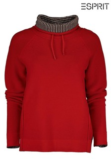 Esprit Red Tunnel Neck Sweater