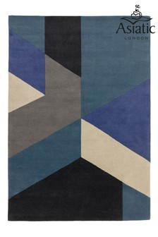 Reef Wool Big Geo Rug by Asiatic Rugs