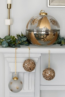 Clear Glass Bauble Ornament