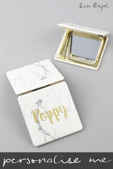 Personalised Marble Effect Compact Mirror By Lisa Angel