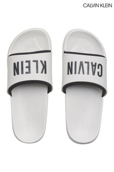 Calvin Klein White Intense Power Pool Sliders