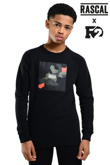 Rascal F2 Camo Pop Crew Sweater