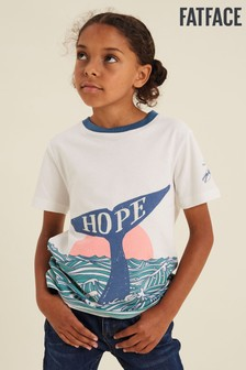 FatFace Natural Nhm Hope Whale Tail T-Shirt