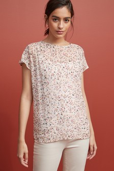 Short Sleeve Frill Top