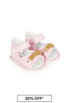 Moschino Kids Baby Girls Pink Sandals