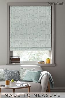 Little Trees Comet Grey Made To Measure Roman Blind by MissPrint