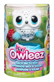 Owleez Flying Interactive Baby Owl- White
