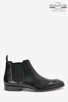 Signature Italian Leather Chelsea Boots