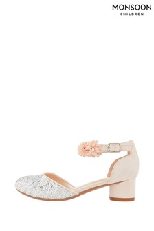 Monsoon Becky Glitter Corsage Shoes