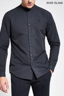 River Island Stripe Grandad Shirt