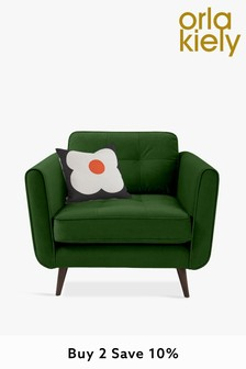 Orla Kiely Ivy Chair with Walnut Feet