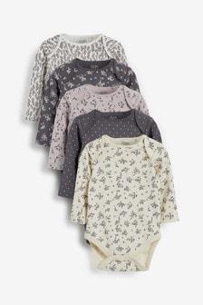 5 Pack Long Sleeve Bodysuits (0mths-3yrs)