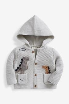 Cotton Dinosaur Cardigan (0mths-3yrs)