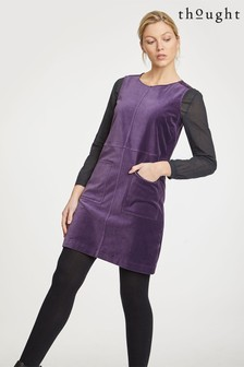 Thought Purple Zillah Velvet Dress