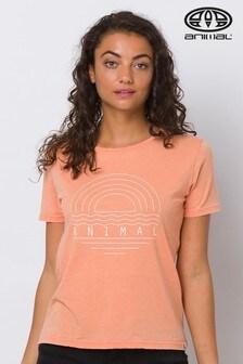 Animal Orange Vintaged Graphic T-Shirt
