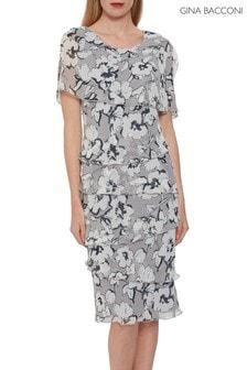 Gina Bacconi Dianora Floral Chiffon Dress