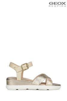 Geox Women's Pisa Gold Sandals