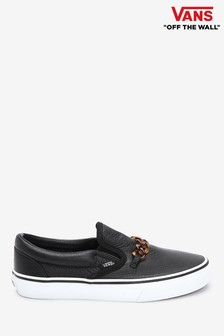 Vans Leather Slip-On Trainers