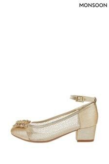 Monsoon Gold Elle Sparkle Princess Shoes