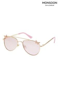 Monsoon Pink Butterfly Aviator Sunglasses