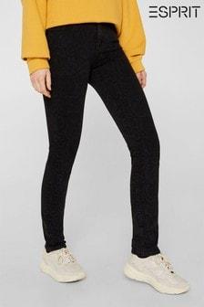 Esprit Slim Denim Jeans With Snake Pattern