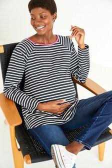 Maternity Organic Cotton Long Sleeve T-Shirt