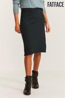FatFace Green Jennie Jacquard Midi Skirt