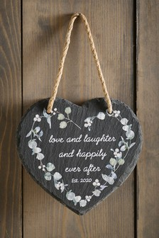 Slate Wedding Hanging Decoration