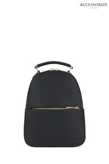 Accessorize Black Tommie Midi Dome Backpack