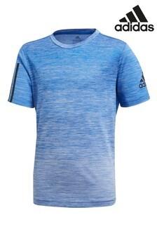 adidas Performance Blue Gradient Training T-Shirt