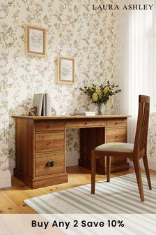 Garrat Honey 7 Drawer Desk by Laura Ashley