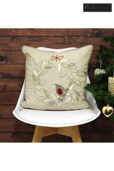 Riva Home Advent Robin Wreath Cushion