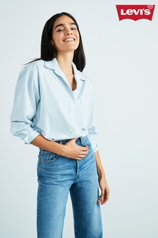 Levi's® Blue Stripe Dad Pocket Shirt