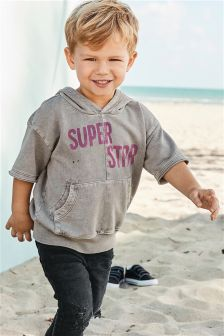 Short Sleeve Superstar Hoody (3mths-6yrs)