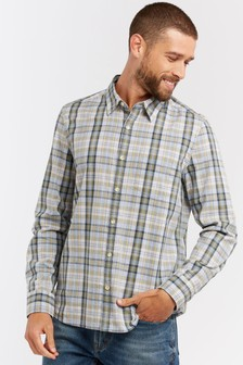 FatFace Green Kirk Check Shirt