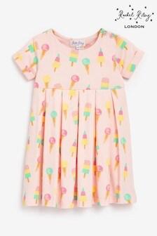 Rachel Riley Baby Girl Pink Ice Cream Jersey Dress