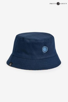 Pretty Green Navy Reversible Bucket Hat
