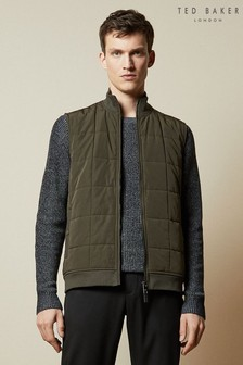 Ted Baker Green Emerg Quilted Gilet