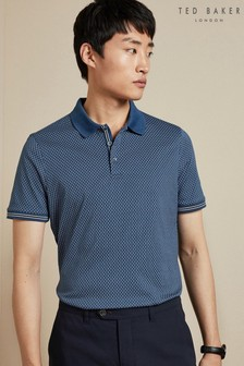 Ted Baker Teal Holybob Geo Print Polo Shirt