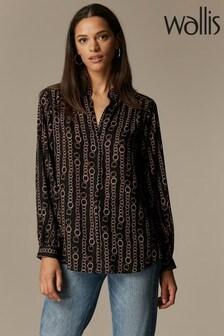 Wallis Black Chain Print Shirt