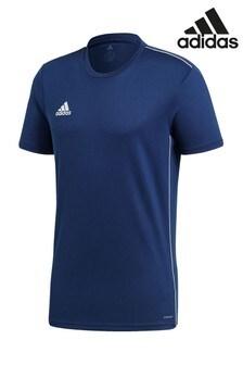 Классическая синяя трикотажная футболка adidas 18