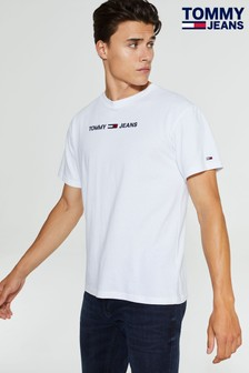 Tommy Jeans White Small Logo T-Shirt