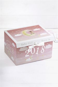 Born In 2018 Baby Girl Keepsake Box