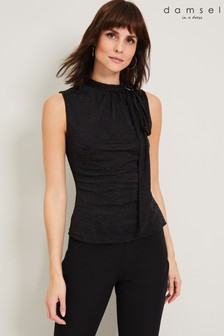 Damsel In A Dress Black Irise Sparkle Top