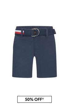 Tommy Hilfiger Navy Cotton Shorts