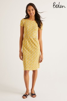 Boden Yellow Phoebe Jersey Dress