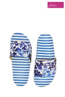 Joules Blue Poolside Printed Sliders