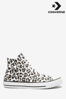 Converse Leopard Pocket High Trainers