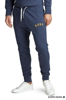 Bjorn Borg Sport Joggers In Navy With Yellow Logo