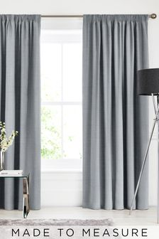 Textured Cloud Grey Made To Measure Curtains